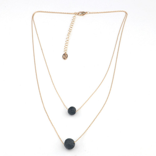 Pheromone Two Layer Necklace by Eye of Love-Gold