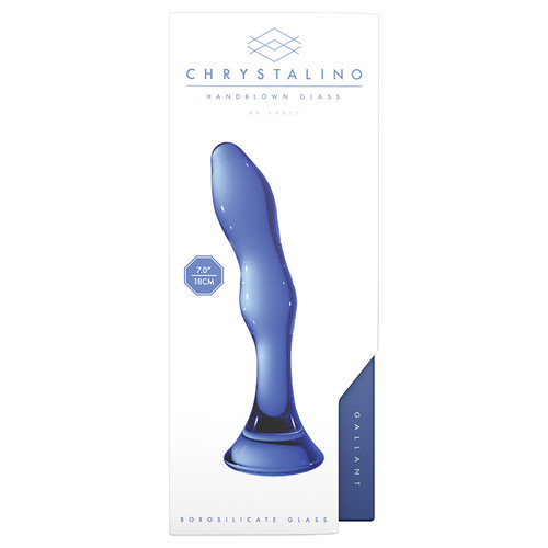 Chrystalino Blue Gallant Glass Dildo Wand