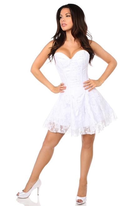 Lavish Lace White Corset Dress by Daisy Corsets