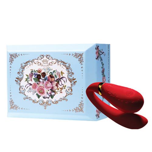 Zalo Versailles Fanfan Couples Vibrator-Bright Red