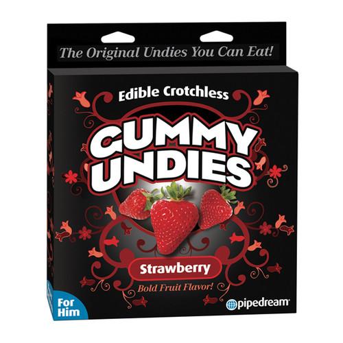 Edible Gummy Undies for Him-Strawberry