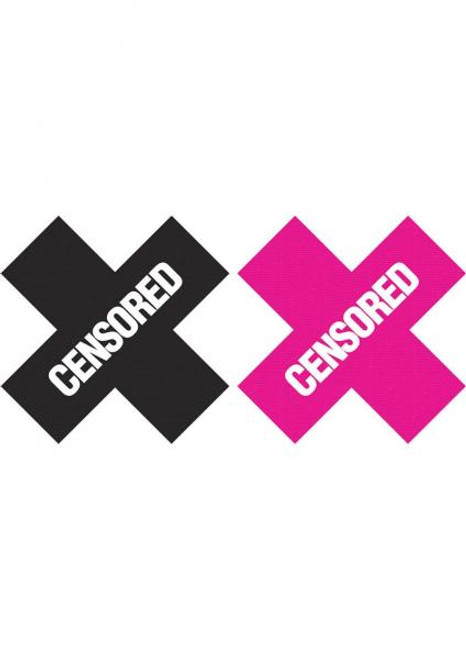 Peekaboo Censored X Shape Pasties