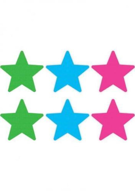 Peekaboo Neon Color Stars Pasties 3 Pack