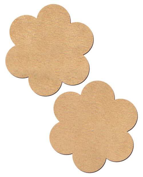 Pastease Vegan Suede Nude Flower Nipple Pasties