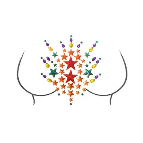 Rainbow Pride Tribe Crystal Jewel Body Stickers