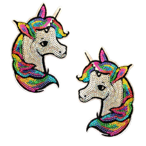 Rainbow Sequin Unicorn Nipztix Pasties