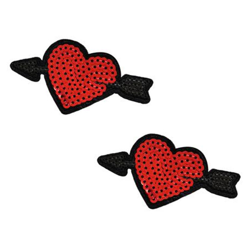 Cupid's Arrow Sequin Hearts Nipztix Pasties