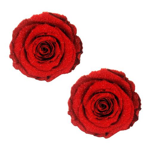 Red Rose Glitter Nipztix Pasties