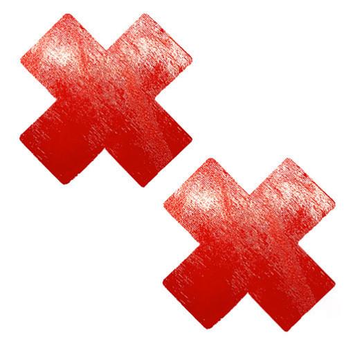 Red Vinyl Wet Look X Nipztix Pasties