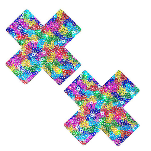 Rainbow Unicorn Poop Sequin X Nipztix Pasties
