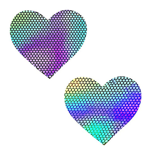 Holographic Hearts Nipztix Pasties