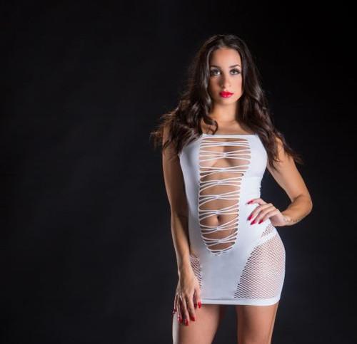 White Spaghetti Strap Dress by Beverly Hills Naughty Girl