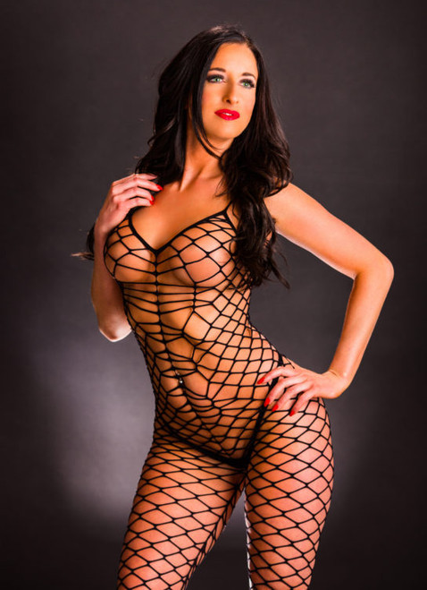 Black Net Mesh Jumpsuit by Beverly Hills Naughty Girl