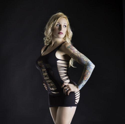 Black Spaghetti String Tank Dress by Beverly Hills Naughty Girl