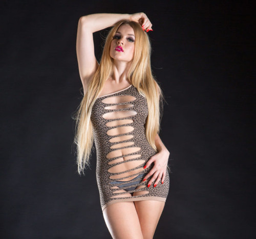 Leopard Print Dress by Beverly Hills Naughty Girl