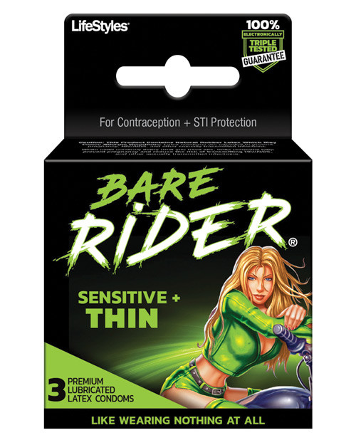 LifeStyles Bare Rider Condoms 3 Pack