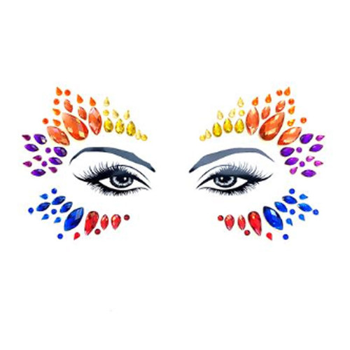 Pride Tribe Crystal Jewel Face Stickers