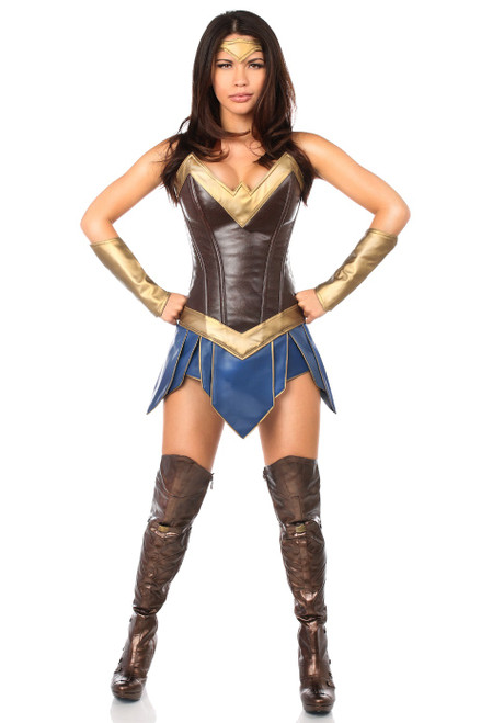 Wonder Woman Warrior Corset Dress Costume by Daisy Corsets