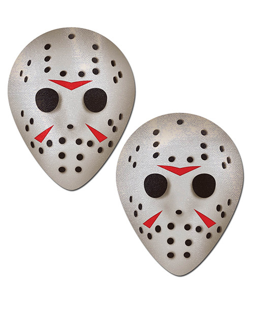 Scary Halloween Hockey Mask Nipple Pasties