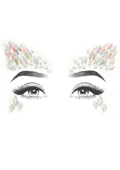Arista Crystal Jewel Face Stickers