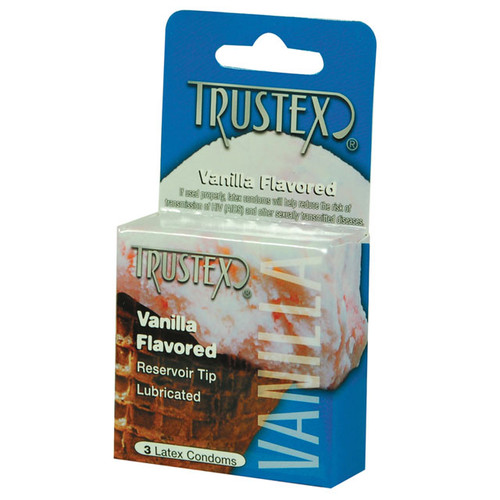 3 Pack Flavored Condoms by Trustex-Vanilla