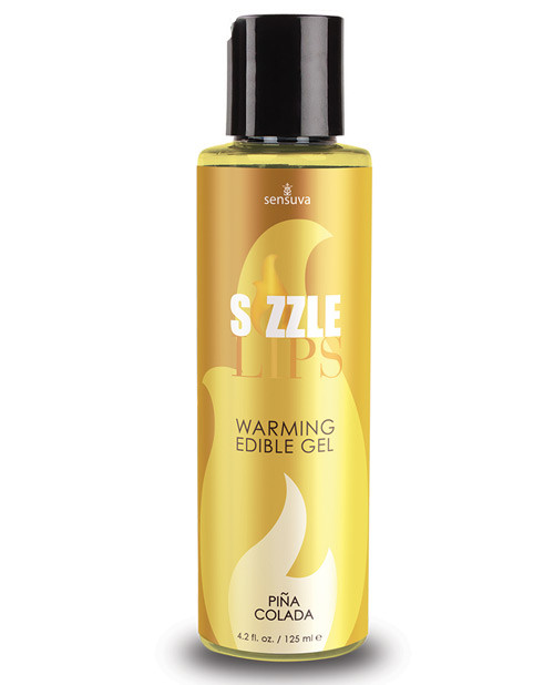 Sizzle Lips Edible Warming Gel by Sensuva-Pina Colada