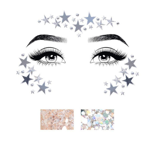 Dream Mirror Jewel Face Stickers