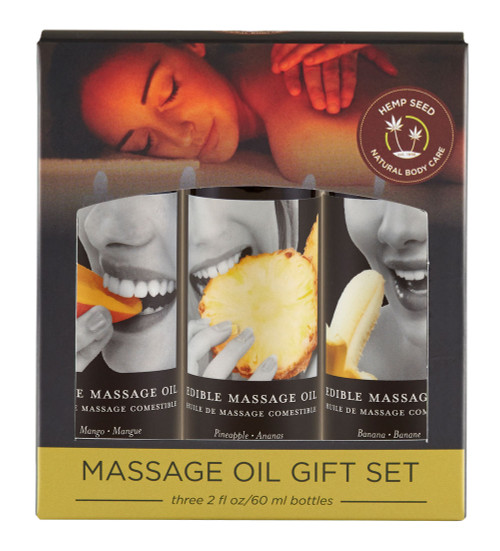 Edible Tropical Massage Oil Gift Set by Earthly Body