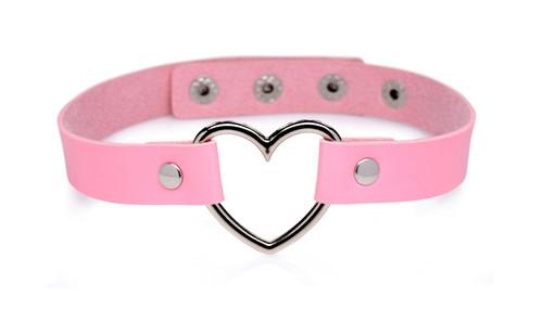 Chrome Heart Choker-Sweet Heart Pink
