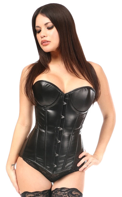 Lavish Wet Look Underwire Corset by Daisy Corsets