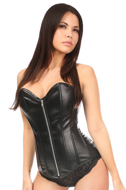 Lavish Wet Look Over Bust Corset by Daisy Corsets
