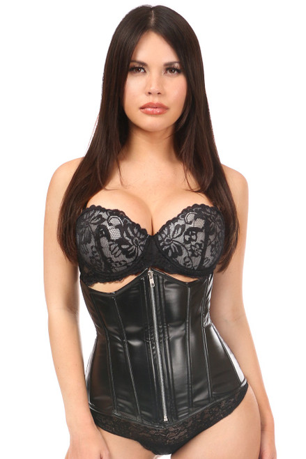 Lavish Wet Look Under Bust Corset by Daisy Corsets