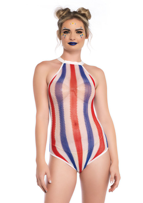 Striped Bodysuit by Leg Avenue