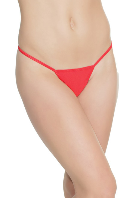 Coquette Lingerie Lycra G-String Panty-Red