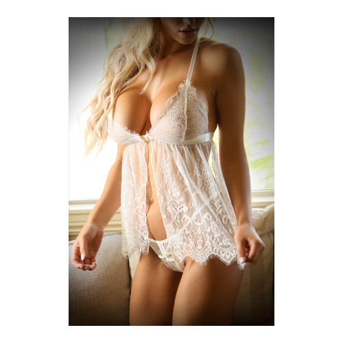 Sunrise Serenade Babydoll and G-String by Fantasy Lingerie