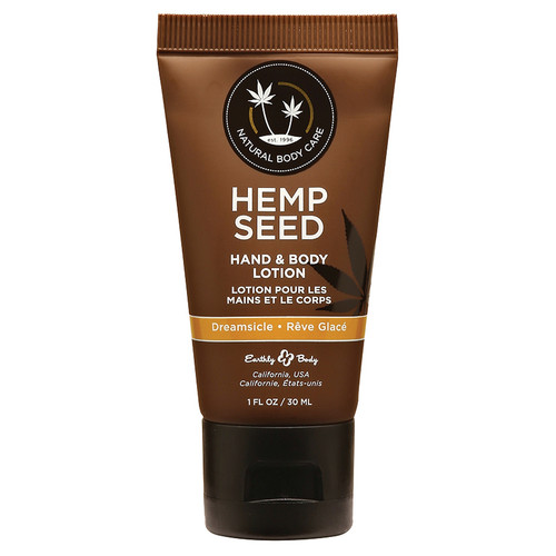 Pocket Size Hemp Seed Hand and Body Lotion by Earthly Body-Dreamsicle