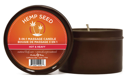 Summer Scents Hemp Seed Massage Candle by Earthly Body-Hot and Heavy