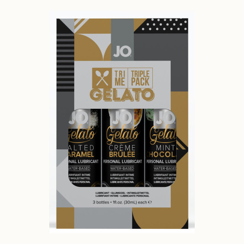 JO Tri Me Triple Pack Gelato Flavored Water Based Lubricant