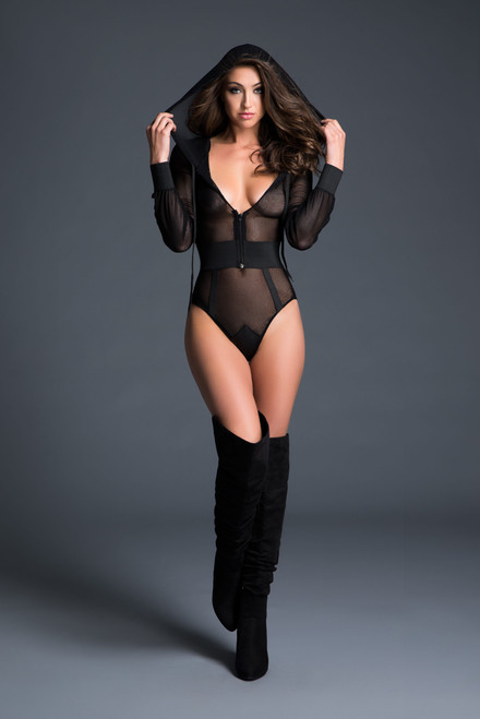 Allure Lingerie Adore Chloe Sweet and Delicious Hoodie Bodysuit
