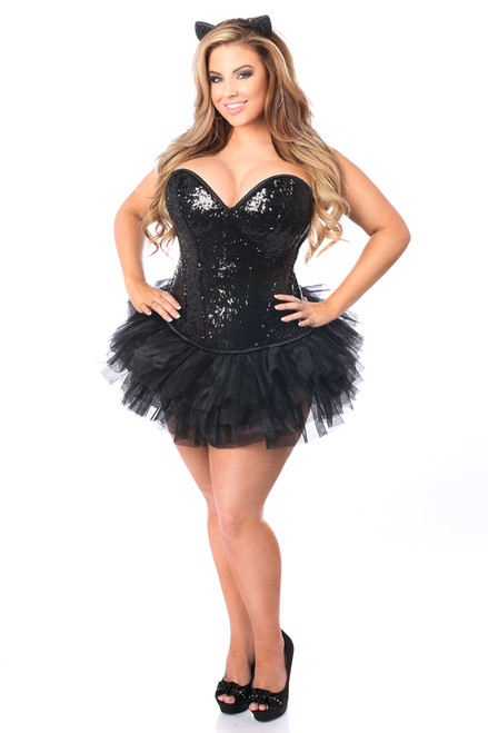 Black Cat Corset Tutu Costume by Daisy Corsets