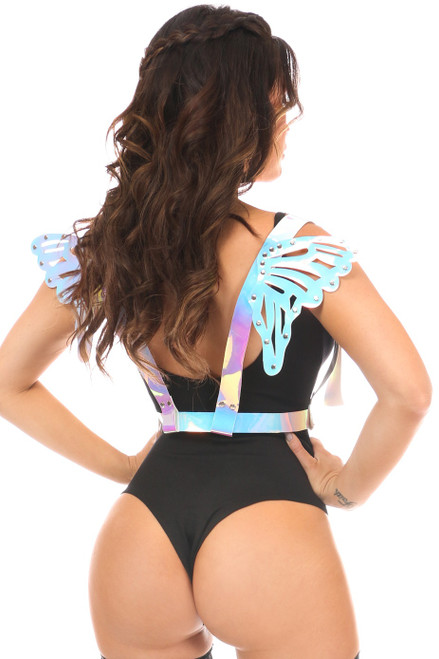 PVC Butterfly Wings by Daisy Corsets-Hologram Chrome