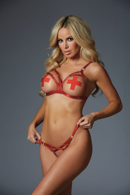 Allure Lingerie Can You Keep a Secret Set-Red