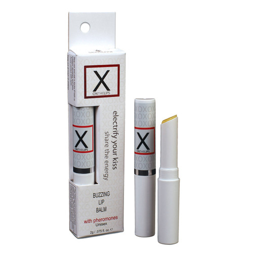 X On the Lips Unisex Buzzing Lip Balm with Pheromones by Sensuva-Original