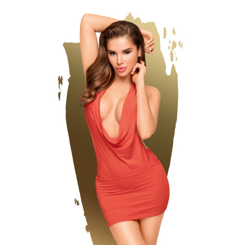 Penthouse Lingerie Heart Rob Mini Dress and Thong-Red