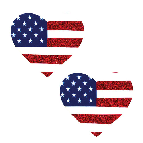 American Flag Heart Pasties