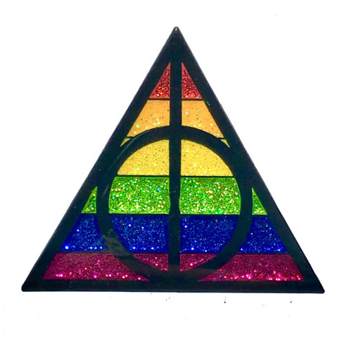 Geeky and Kinky Potter Pride Deathly Hallows Symbol Pin