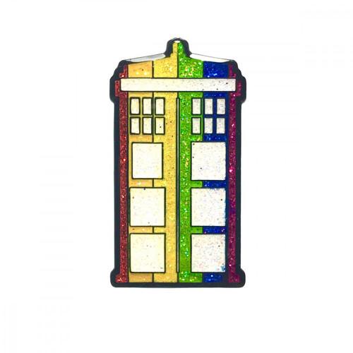 Geeky and Kinky Doctor Who Pride Tardis Pin