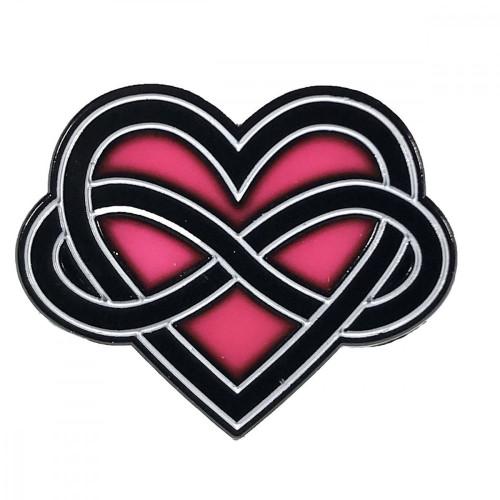 Geeky and Kinky Infinite Love Polyamory Pin