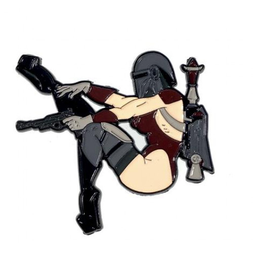 Geeky and Kinky Miss Mando Fett Pin
