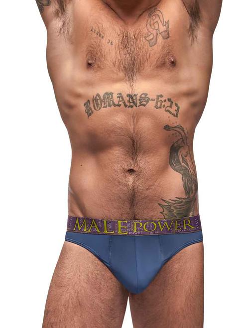Male Power Avant Garde Enhancer Thong for Men-Blue